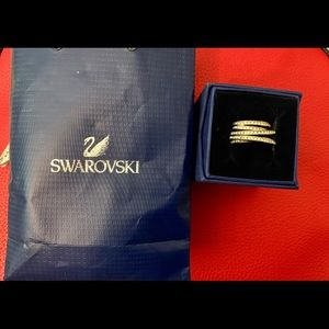 Swarovski Spiral Ring - Size 7
